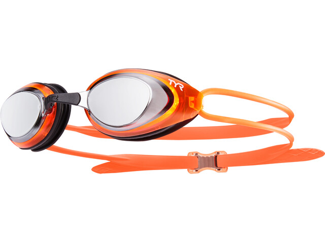 TYR Blackhawk Racing Polarized duikbrillen Heren oranje/zwart